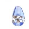 Glass Lamp Bead Drop 12x8mm Silver/Sapphire